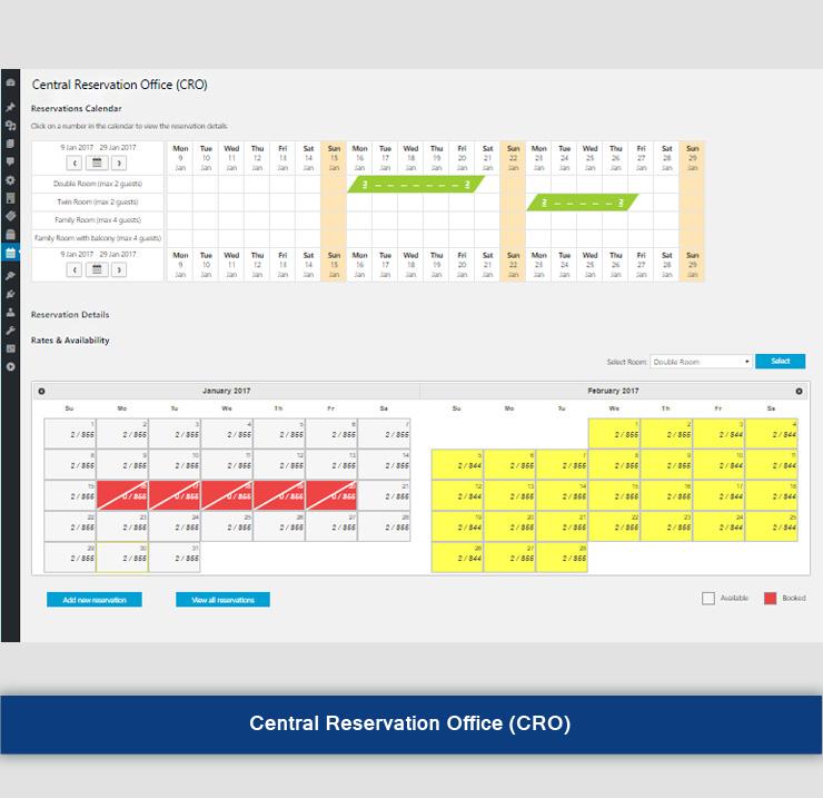 Hotel reservation and Front desk Software